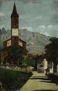 switzerland, TESSERETE, Ticino, Propsteikirche Santo Stefano (1905) Postcard