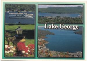 Lake George, in New York's Adirondack Mts., unused Postcard