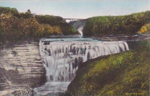 Middle Falls Letchworth State Park P O Castile New York Handcolored Albertype