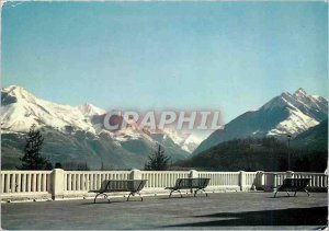 Modern Postcard The Pyrenees Argeles Gazost the Grand Terrace and the Peak of...