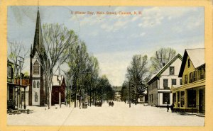 NH - Canaan. Main Street, Winter