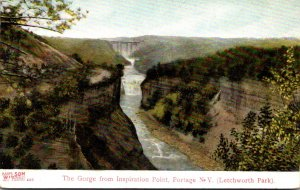 New York Letchworth Park Portage The Gorge From Inspiration Point