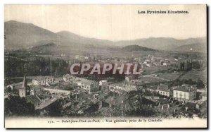 Old Postcard The Illustrated Pyrenees Saint Jean Pied Port De Vue Generale Ta...