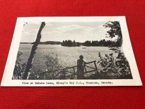 RPPC postcard 1955 KAHSHE LAKE Kluey's Bay MUSKOKA Canada