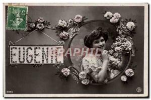 Old Postcard Eugenie Surname