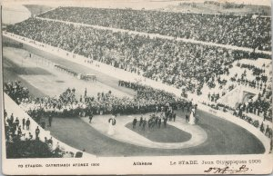 1906 Olympic Games Athens Greece Stadium Stade Jeux Olympiques Postcard E79