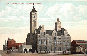 Tennessee Train Postcard Union Station Nashville, Tenn., USA Unused
