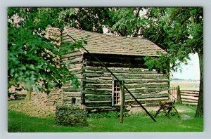 Milton WI- Wisconsin, Station on Underground Railroad, Cabin, Chrome Postcard