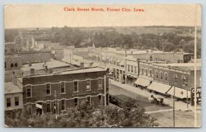 Forest City IA 1st National Bank~Birdseye of Downtown Victorian Buildings~1914