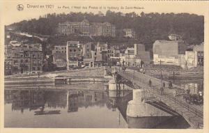 Belgium Dinant Le Pont l'Hotel des Postes et le faubourg de Saint-Medard