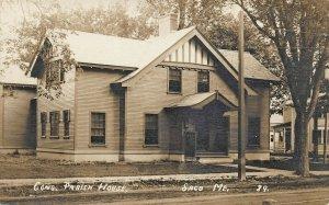 Saco ME Congregational Church Parish House Real Photo Postcard