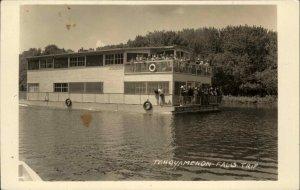 Tahquamenon Falls Boat Trip Luce County MI c1920s Real Photo Postcard