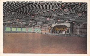 New London CT~Ocean Beach Danceland~Dance Floor Band Stage~Garden of Roses~1916