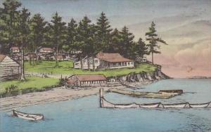 West Virginia Orcas Island Buckhorn Lodge Albertype