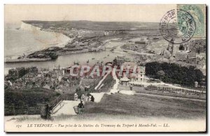Treport - View from the Tram Station Treport - Old Postcard