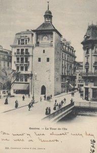 GENEVE , Switzerland , 1890s-1900s ; La Tour de l'Ile