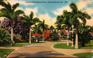 Florida Miami Beach Typical Residential Scene