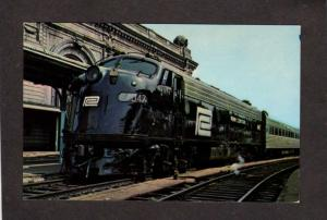 NY Penn Central Railroad Train 4047 Station Depot Albany New York Postcard
