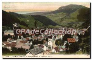 Old Postcard Le Mont Dore Vue Generale Et Le Puy Gros