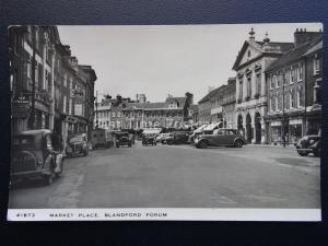 Dorset BLANDFORD FORUM Market Place c1950's RP Postcard by Harvey Barton