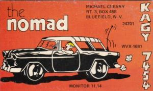 WVX-1681 The Nomad Michael Cleary Bluefield West Virginia