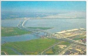 Aerial View,Cooper River Bridges,Charleston,South Carolina,40-60s
