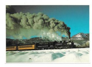 Durango and Silverton Narrow Gauge Train Winter Snow Petley