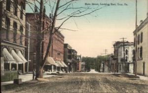Troy PA Main St. East c1910 Postcard