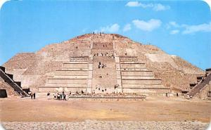 Mexico Old Vintage Antique Post Card The Plaza nd Pyramid to the Moon San Jua...