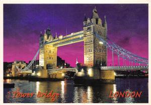 BT18802 tower bridge by night london uk