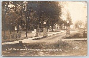 Chambersburg Pennsylvania~Wilson College Main Gate~Campus Buildings~1911 RPPC