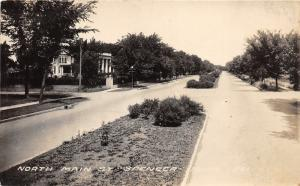 Spencer Iowa~North Main Street~Beautiful House~Divided Road~Vintage RPPC