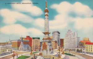 Indiana Indianapolis Monument Circle 1957