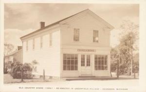 RPPC Old Country Store (1854) - Greenfield Village, Dearborn MI, Michigan