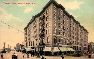 Atlantic City, New Jersey - A view of Young's Hotel - c1908