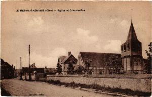 CPA LE MESNIL-THERIBUS Église et Grande-Rue (377232)