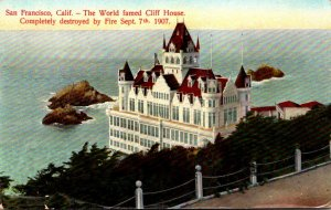 California San Francisco World Famous Cliff House