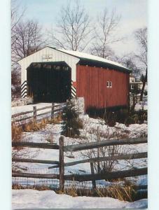 Unused Pre-1980 COVERED BRIDGE Lancaster Pennsylvania PA t8410