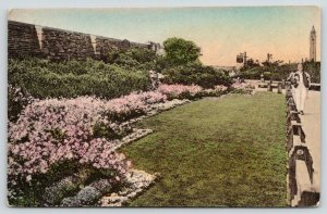 Jones Beach Long Island New York~Landscaping @ East Bath House~1920s Handcolored