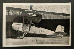 Mint Vintage Aviation Hanriot Aircraft Bengali 145 CV Real Photo Postcard RPPC