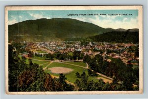 Clifton Forge VA-Virginia, Bird's Eye View From Athletic Park, Vintage Postcard