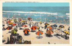 Spring Lake New Jersey Bathing Beach Scene Antique Postcard K93017