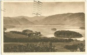 United Kingdom The Head of Derwent Water, 1942 used Postcard