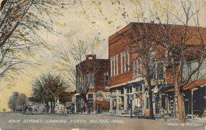 LP07   Milton   Iowa Postcard Main St. Looking North