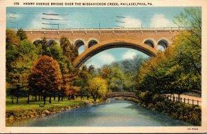 Pennsylvania Philadelphia Henry Avenue Bridge Over The Wissahickon Creek 1937...