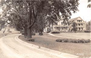 Blair Nebraska~Crowell Memorial Home~Long Driveway~1930s RPPC Postcard