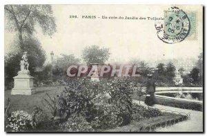 Old Postcard Paris A corner of the Tuileries Gardens