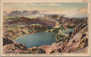 Twin Lakes & Rock Creek Canyon WY Haynes c1937 RPO Postcard F28