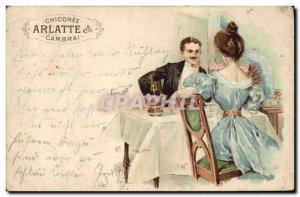 Postcard Old Woman Advertisement Chicoree Arlatte Cambrai