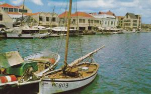 CURACAO, 1940-1960´s; Waterfront Showing Barks And Schooners Binging Fruit A...